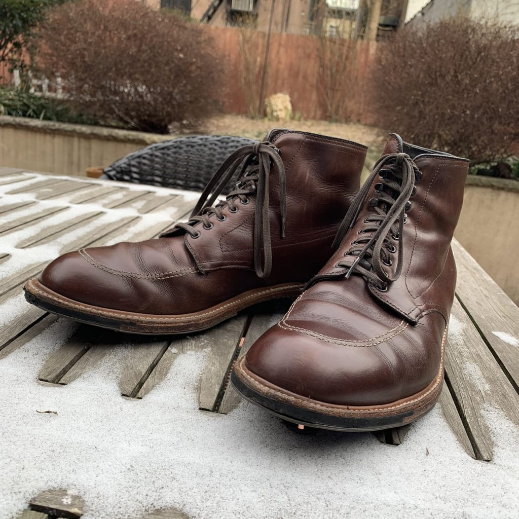 Alden Indy 403C Boot in the Snow