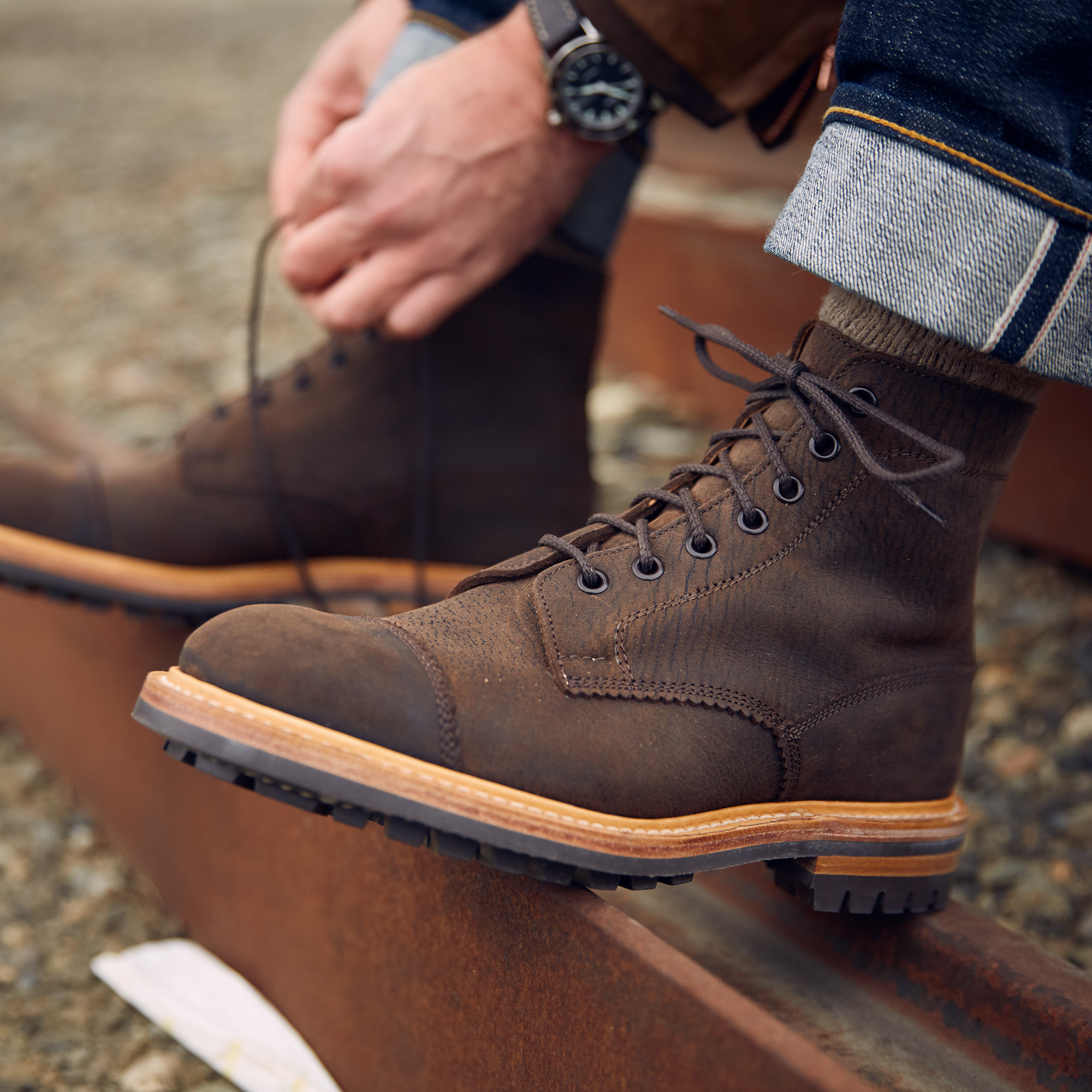 Division Road x Trickers Dean Boot