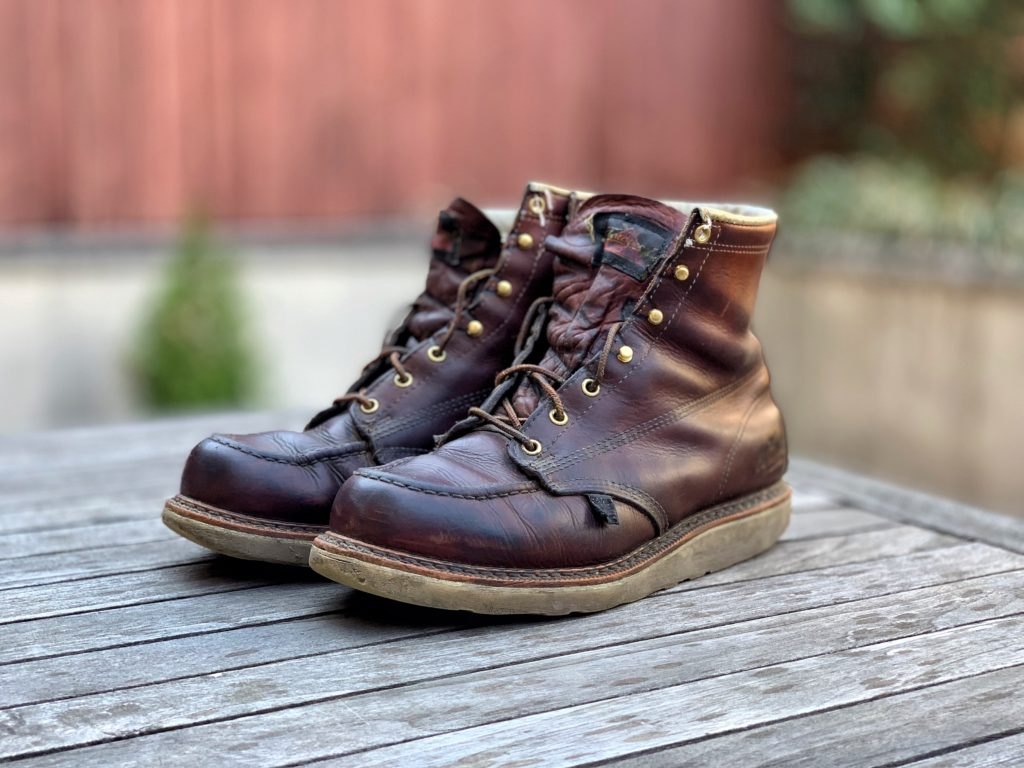 Thorogood Moc Toe Boot In Tobacco Leather