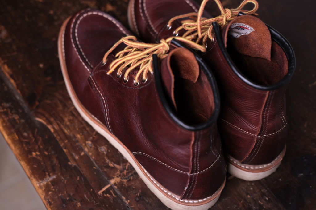 Red Wing Moc Toe Boot Model 8138 In Briar Oil Slick Leather