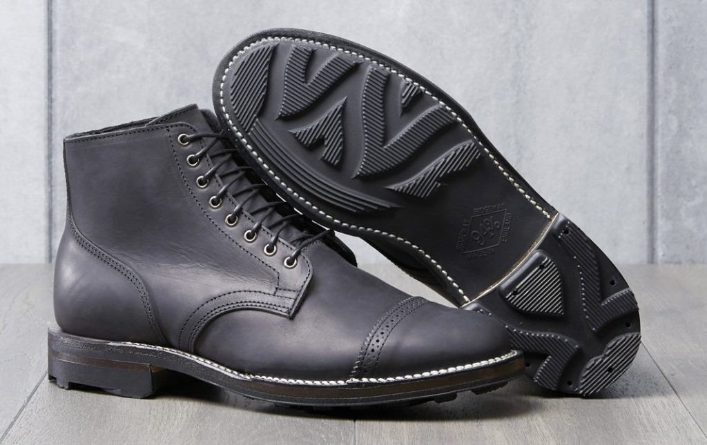 Viberg x Division Road Service Boot in Noir Vitello Calf