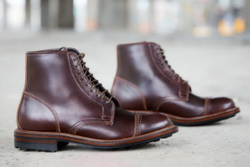 Viberg X Division Road Shelby Boot — Shell Cordovan