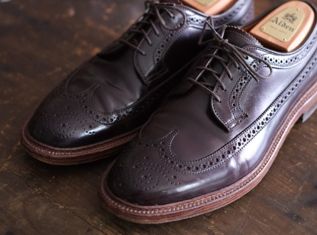 Alden Longwing Blucher in Color 8 Shell Cordovan