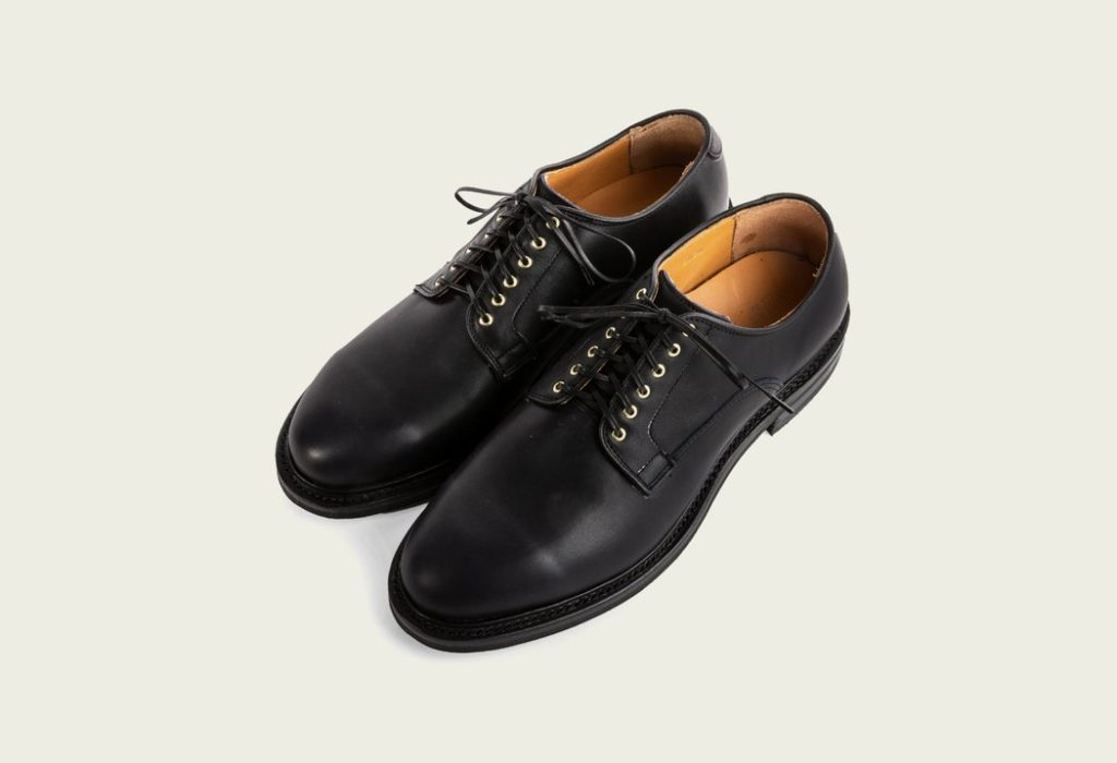 Viberg Derby Shoe Navy Oiled Calf