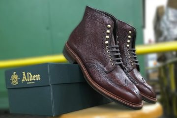 alden shoe mart brown scotch grain wingtip boot