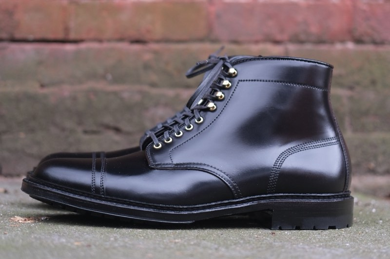 "Black Shell Cordovan ""Stitchup"" Boot"