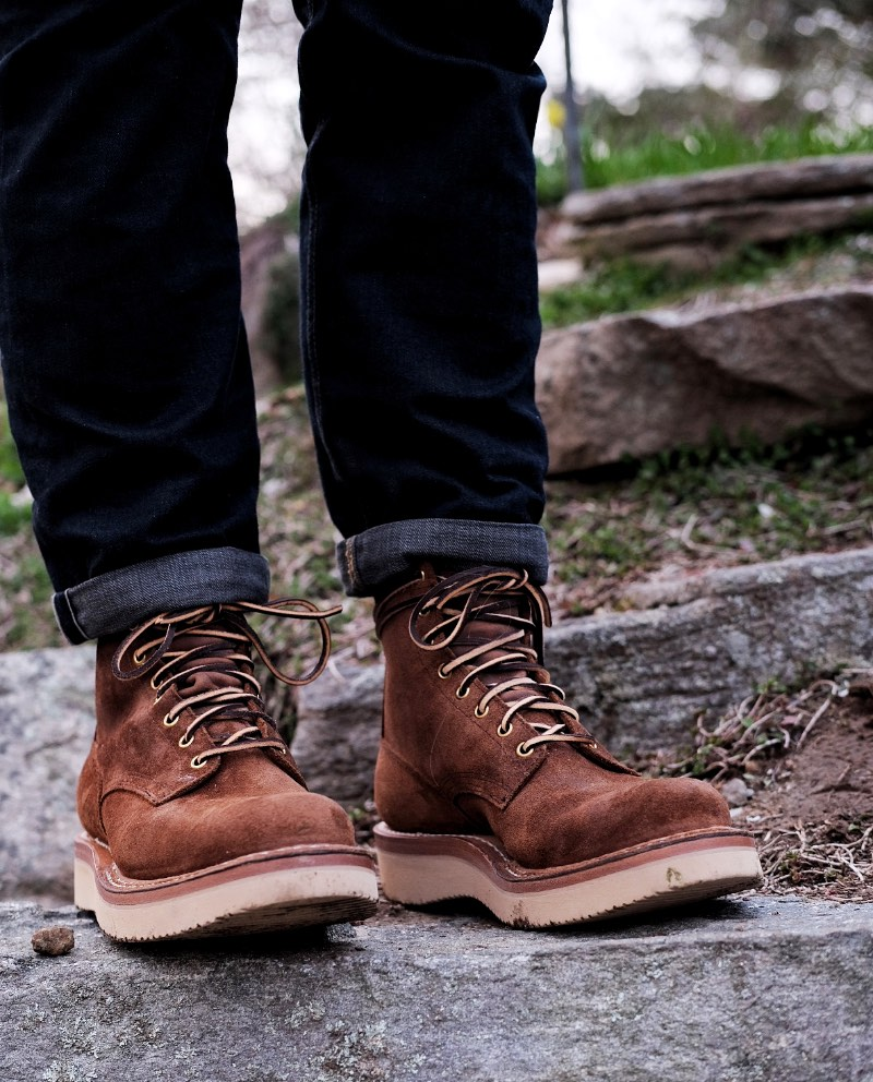 Whites Boots 350 Cruiser Distress Roughout3