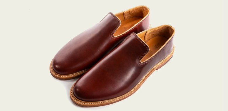 viberg slipper color 2 shell cordovan