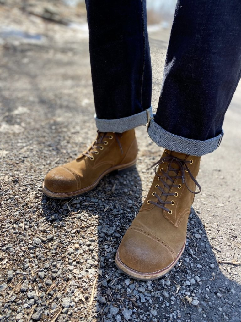 Iron boots 5515 sand yellow roughout