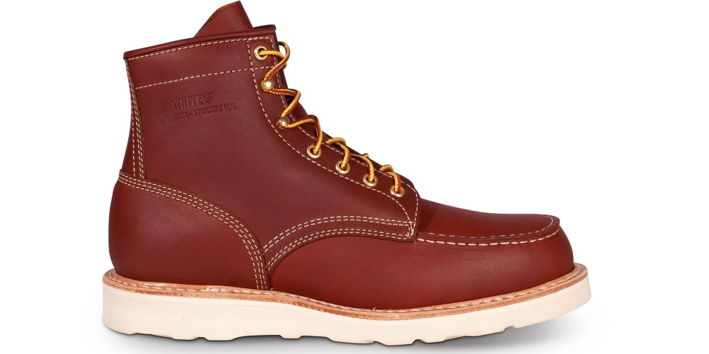 White's Boots Perry Moc Toe Red Dog Leather
