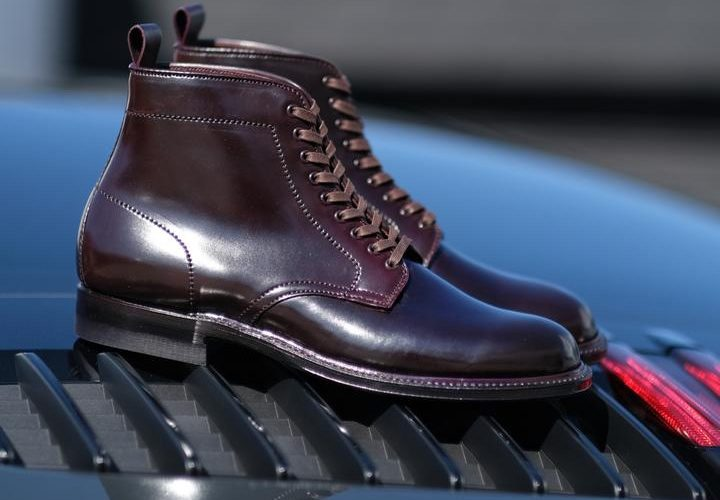 alden brogue ruby hill plain toe boot color 8 shell cordovan